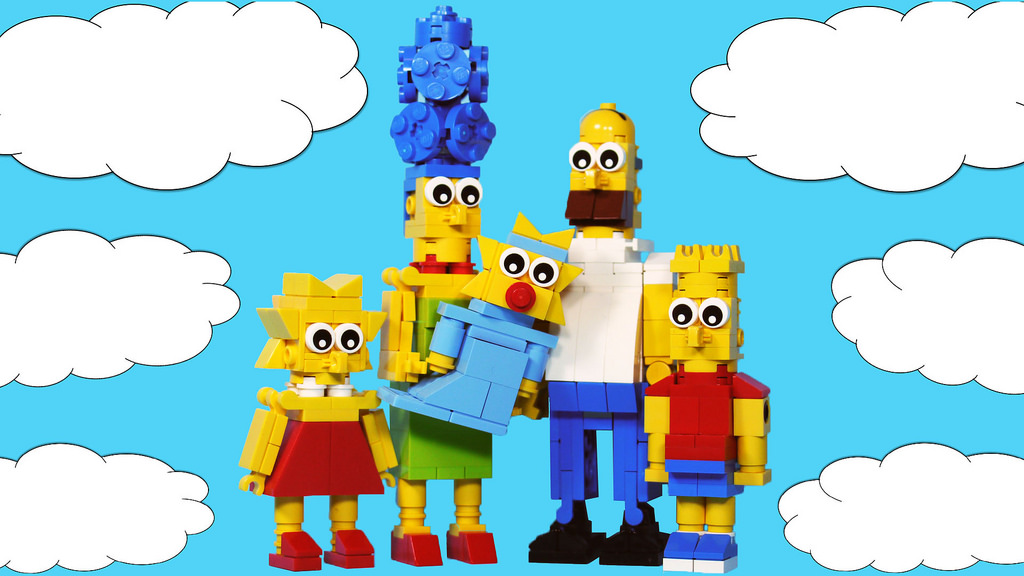 The Simpsons In Lego! No, For Real, Not The Mini-Figurines! The Real Thing!