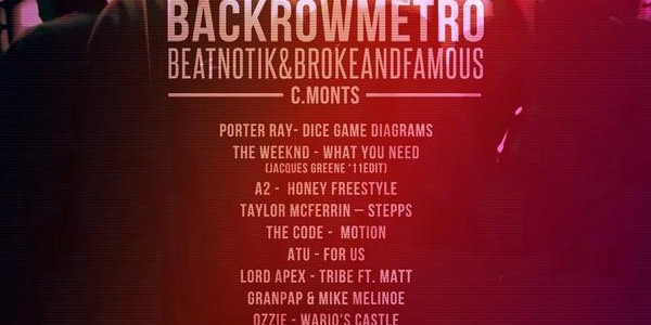 C.Monts x Beatnotik – BACKROWMETRO (Mixtape)