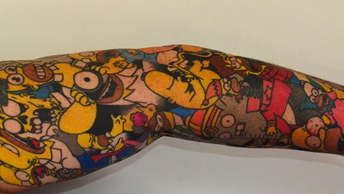 most simpsons tattoos
