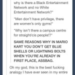 Privileges for the underprivileged explained in genius Mario Kart analogy