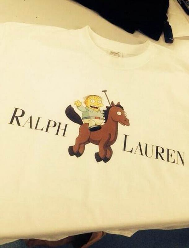 ralph lauren ralph wiggum the simpsons fake