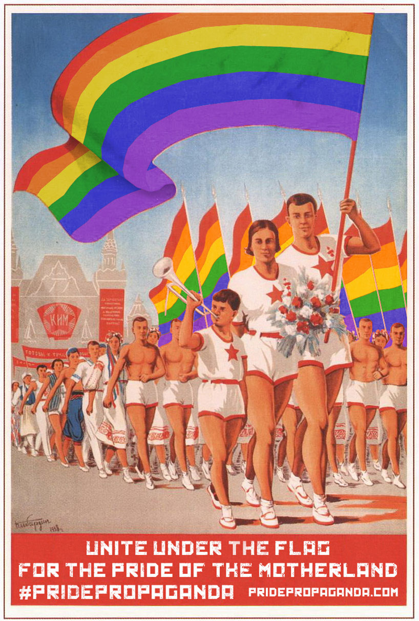 Repurposed Soviet Propaganda In Response To Russia's Ban On LGBT Propaganda