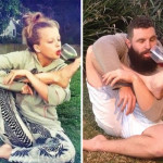 bearded feller recreates tinder profile pics of single ladies