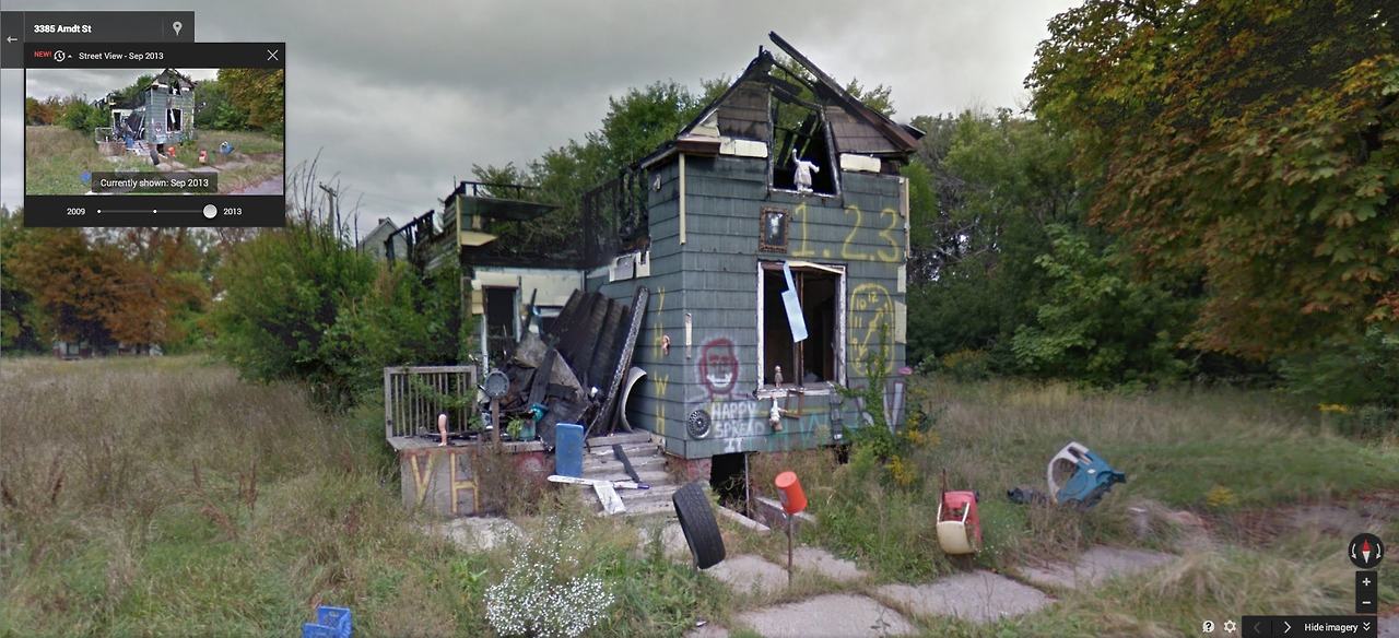 google maps detroit decay