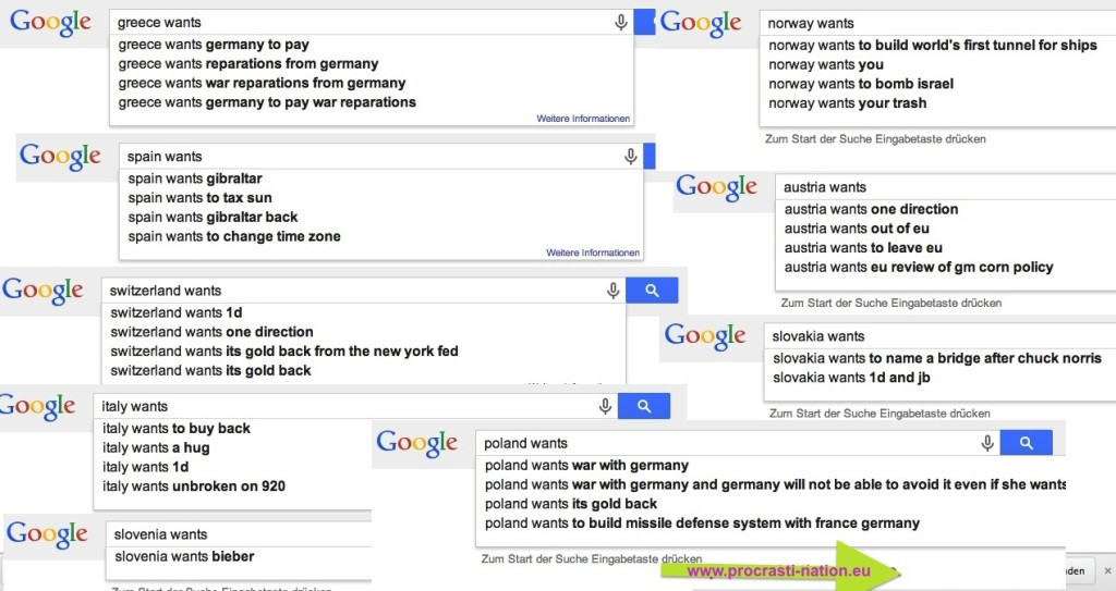 what european countries want according to google autocomplete
